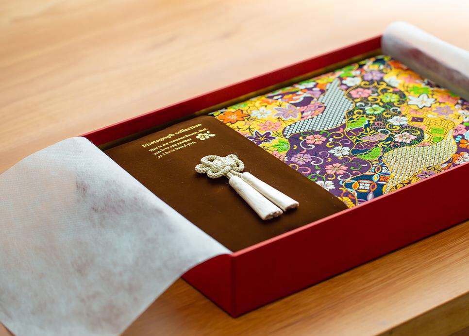 京都洛中、古町家で作られる上質な和風アルバム